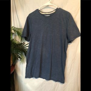 Men's express short sleeve blue T-shirt size m